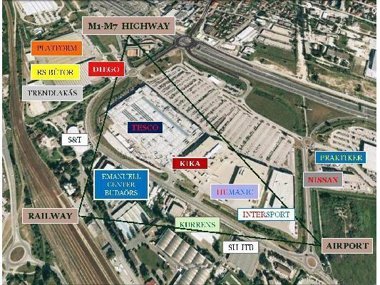 tesco térkép Eladó ipari ingatlan, Budaörs   Budaörsön ipari és kereskedelmi  tesco térkép